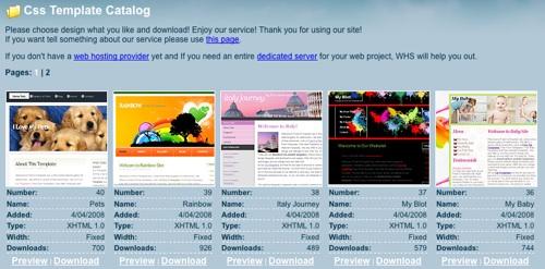 Шаблон сайта для сервера css бесплатно теория создание сайтов