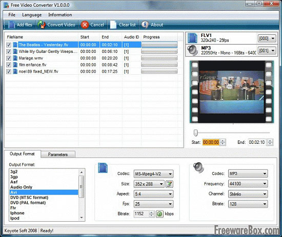 Программу конвертации файлов avi