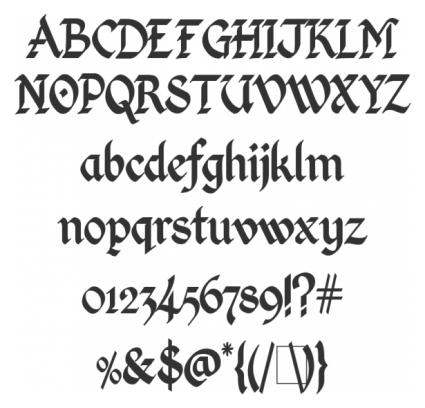 25 отличных шрифтов имитирующих