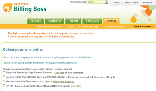 Billing Boss – бесплатный онлайн-инструмент по быстрой и простой отправке инвойсов