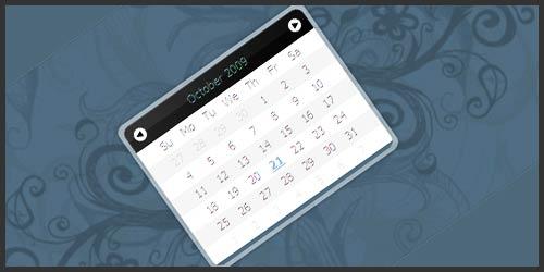 Компонент выбора даты для Javascript: Calender Eightysix