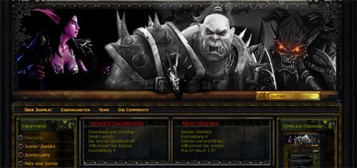 Вы наверняка знаете популярную многопользовательскую ролевую онлайн-игру world of warcraft, так вот этот шаблон как