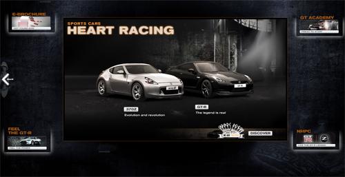 Всем пристегнуться! Наиболее интересные примеры веб-дизайна автомобильной тематики на Flash