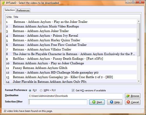 BYTubeD позволяет проще простого скачивать несколько видео с Youtube