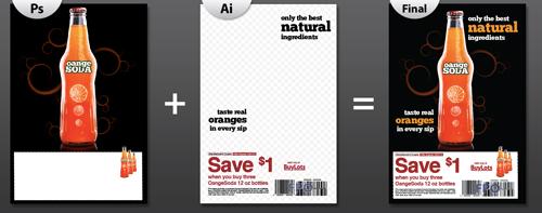 Создаем рекламное печатное объявление в Photoshop и Illustrator