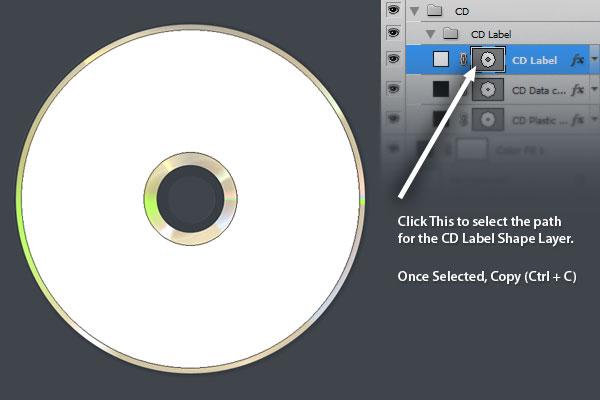 Как сделать в фотошопе наклейку на диск