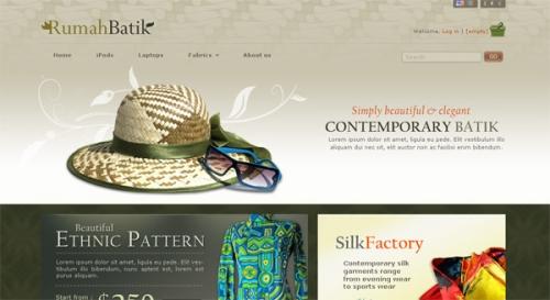 Rumah Batik - бесплатная тема оформления для Prestashop