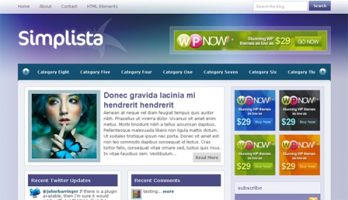 Simplista - бесплатная тема оформления Wordpress