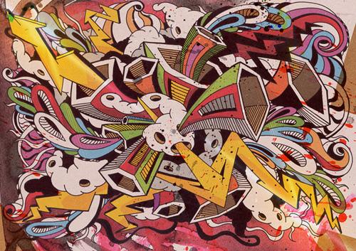 34 примера цифрового граффити для вдохновения