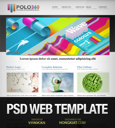 Polo360 – веб-шаблон в формате PSD