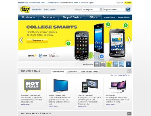 Лучшие дизайны интернет магазинов