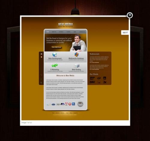 Бесплатные PSD-шаблоны: vCard Personal Portfolio Minisite (мини-сайт личного портфолио)