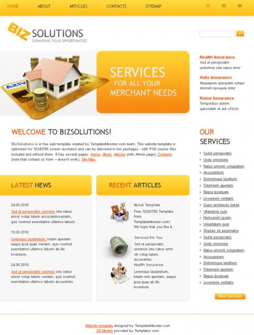 Бесплатный деловой шаблон веб-сайта – отличный выбор для вашего проекта!