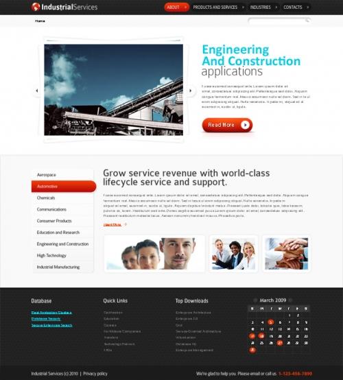 Бесплатный HTML5 шаблон сайта на тему промышленного бизнеса