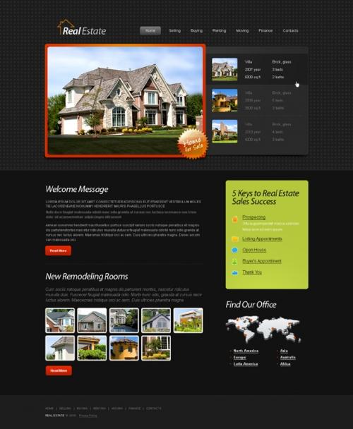 Бесплатный HTML5-шаблон на тему недвижимости