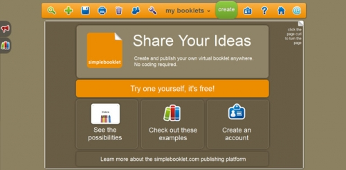 Simplebooklet – предельно простой и бесплатный сервис создания буклетов
