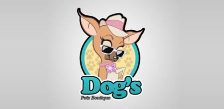 35 оригинальных дизайнов логотипов с собаками