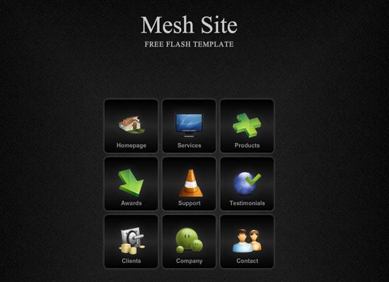 бесплатные шаблоны flash сайтов: