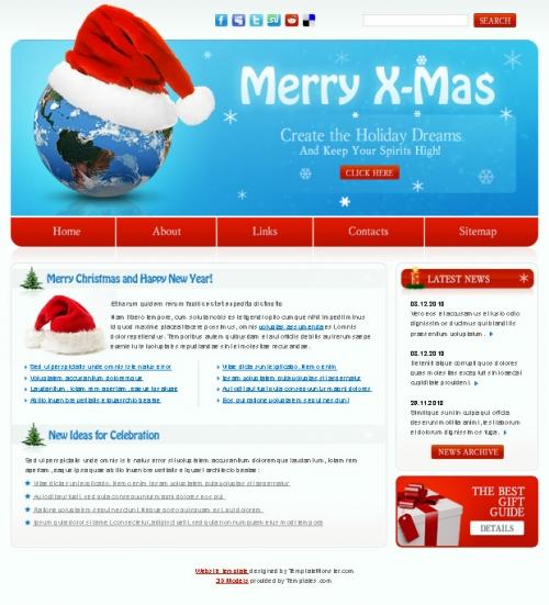 Бесплатный рождественский шаблон веб-сайта