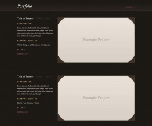 Бесплатные высококачественные шаблоны сайтов-портфолио в PSD