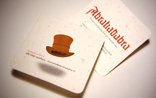Квадратная визитка