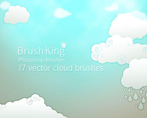 Более 400 бесплатных «облачных» кистей для Photoshop