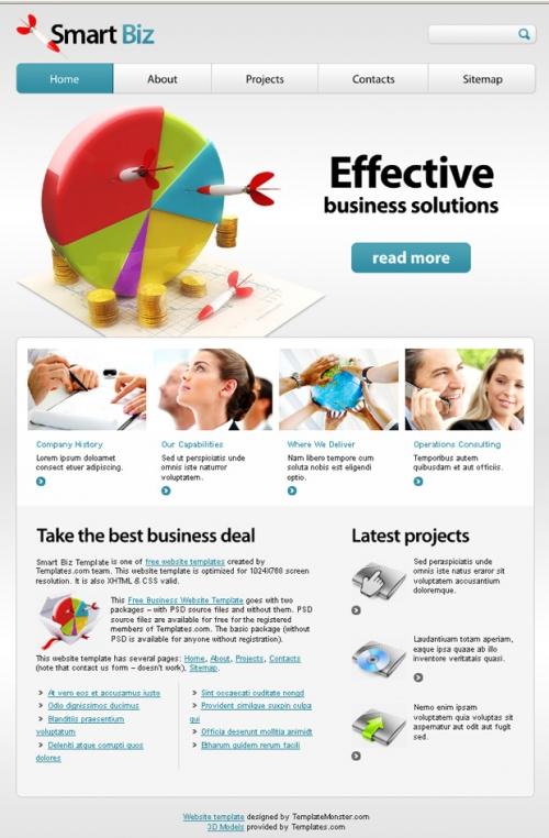 Бесплатный шаблон для бизнес-сайта – выбор профессионалов