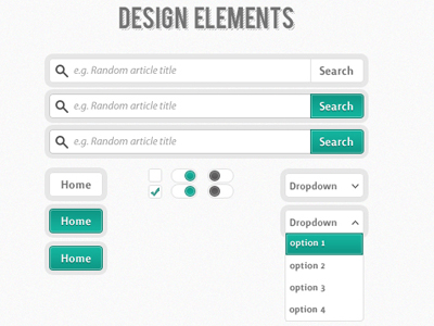 30 превосходных примеров элементов интерфейса на Dribbble