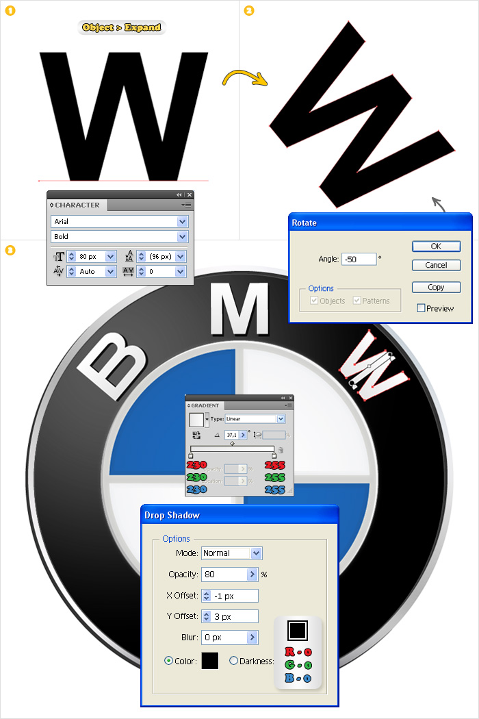 шрифт логотипа bmw