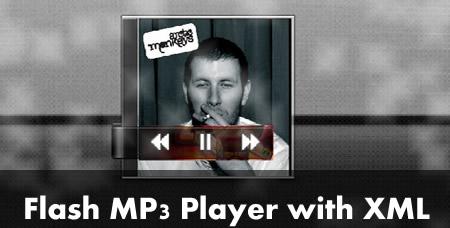 Бесплатный простенький Flash AS 3.0 XML MP3-плеер
