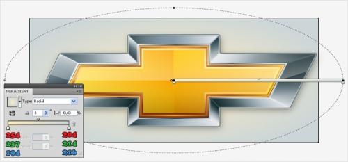 Уроки Illustrator: Создаем эмблему Chevrolet