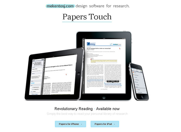 read research papers ipad