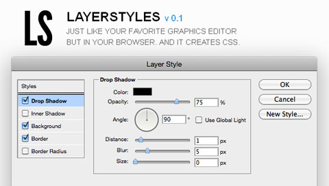 Layer Styles: ���������� �������� ���� CSS �� ���� ������ ���� � Photoshop