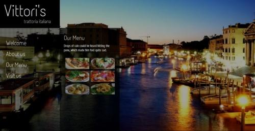 Шаблон веб-сайта и галереи для ресторана