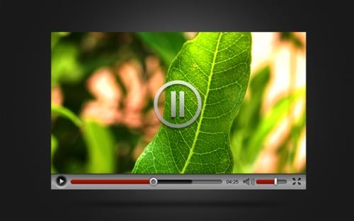 Интерфейс видео-плеера в PSD-формате