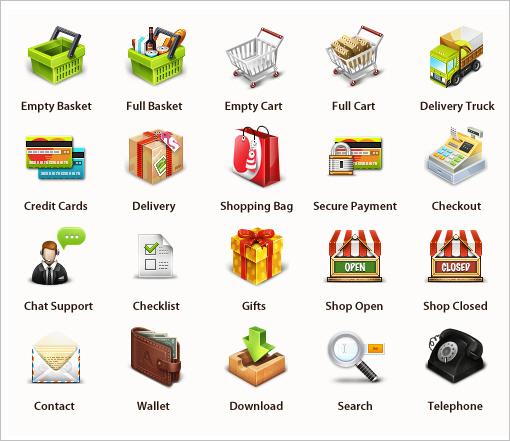 скачать иконки для интернет магазина: