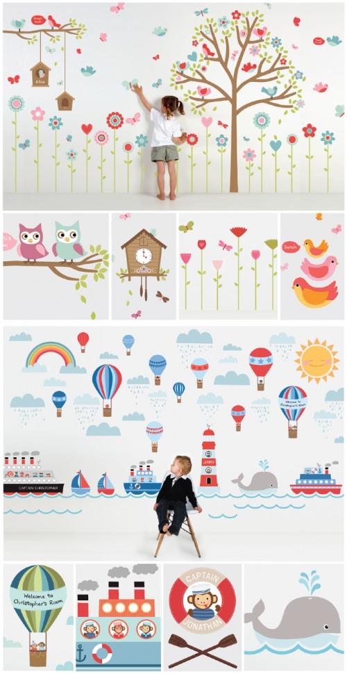 31 пример наклеек на стену, которые помогут вам «оживить» комнату
