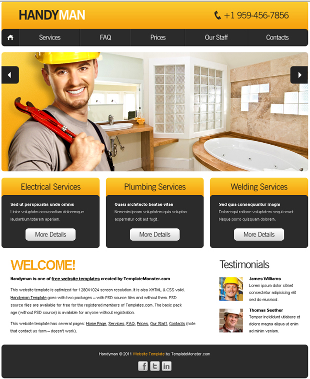 Free templates for websites