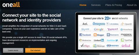 OneAll: упрощенная авторизация в социальных сетях