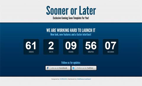 Sooner or Later: эксклюзивный шаблон для вашего следующего проекта