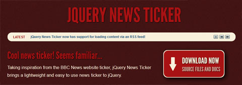 jQuery News Ticker: гибкий плагин для ротации текста