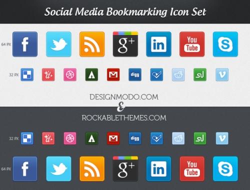 Эксклюзивная новинка - бесплатный комплект социально-сетевых иконок-закладок