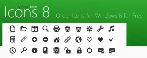 Icons 8: постоянно растущий набор иконок, созданный под впечатлением от Windows 8