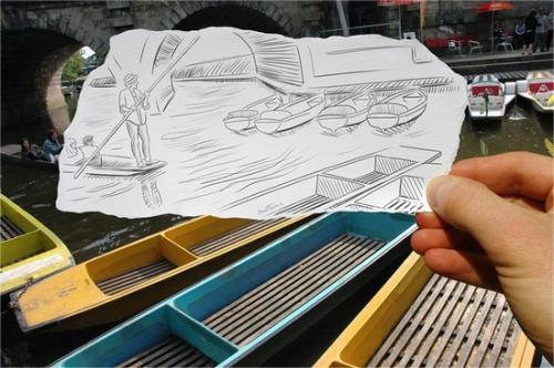30 потрясающих примеров совмещения карандашных рисунков с фотографиями