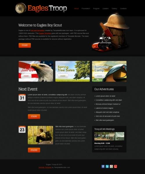 Бесплатный шаблон для веб-сайта молодежной организации