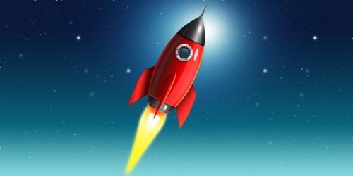 Иконки в виде космической ракеты (PSD): www.coolwebmasters.com/iconss/2457-space-rocket-icon-psd.html