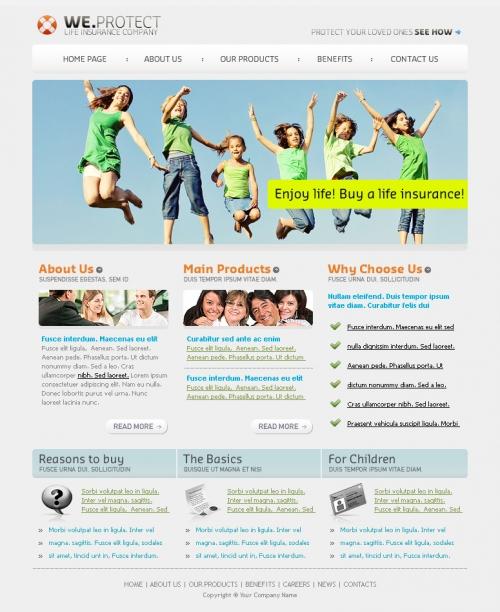 Бесплатный шаблон для сайта (PSD)