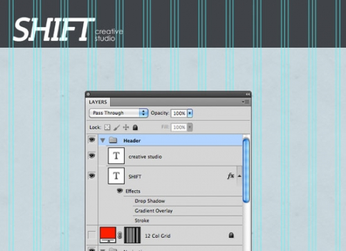 Уроки Photoshop: Разработка профессионального сайта-портфолио при помощи Photoshop и сеточной системы 960 – Часть 1