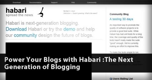 Новое поколение блоггинга: создайте блог с помощью Habari