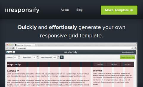 Responsify: онлайн генератор адаптивных сеточных шаблонов